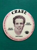 1976 Crane Potato Chips ROGER STAUBACH Football Disc Dallas Cowboys Star QB NFL