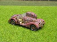 H0 1:87 BMW 328 Oldtimer Scheunenfund Wrack Laser Cut Gealtert Rost #22