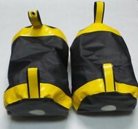 Practice Pads MMA Kickboxing Muay Thai Boxing - Black and Yellow - Pack of 2