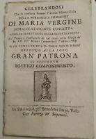 1765 COMPONIMENTO POETICO PER LA VERGINE DELLA CONCEZIONE PROTETTRICE DI FAENZA