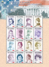 GAMBIA FIRST LADIES OF THE US - LINCOLN - COOLIDGE SHEETLET OF 16 MNH