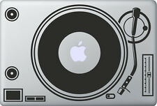 Apple MacBook Air Pro DJ  Spinn Aufkleber Sticker Skin Decal Schallplatte