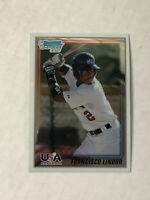 FRANCISCO LINDOR 2010 Bowman Chrome 1ST BOWMAN USA RC #USA-5! INDIANS!