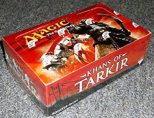 MAGIC THE GATHERING KHANS OF TARKIR 1/2 BOOSTER BOX = 18 SEALED PACKS FREE SHIP