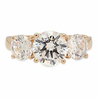 3.05ct Round Cut Engagement Wedding Promise Solitaire Ring Solid 14K Yellow Gold