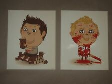 Mike Mitchell Shaun of the Dead Simon Pegg art poster print Just Like Us JLU