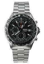 SEIKO SND253 SND253P1 Mens Chronograph Black Dial 100m Steel Watch