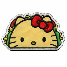 Official Hello Kitty Taco Embroidered Iron On Patch