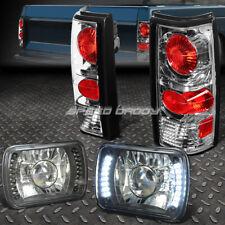 1982-1990 GMC S15 7x6 H6052//H6054 Semi-Sealed Beam Black Diamond Blue LED Hea...