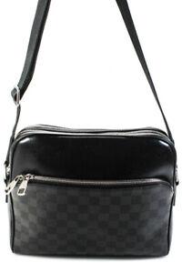 Louis Vuitton Damier Graphite Dayton Reporter PM Handbag Black