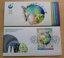 2012 Malaysia 25th World Gas Conference 4v Stamp FDC (Melaka Cachet)