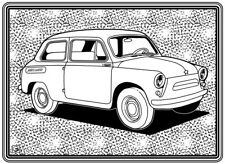 Coloring Page - Retro Car # 5 (Hi-Res JPG file will be sent by email)