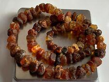 Natural Vintage Amber Beads Antique Baltic Old Necklace 55,01  gr.