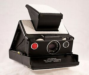 Polaroid SX-70 Alpha 1 Model 2, Tested, New Leather, Black with White Covering