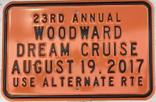 2017 Woodward Dream Cruise Orange Garage Sign