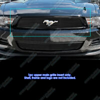 Fits 2010-2012 Ford Mustang Black Billet Grille Insert with Logo Show V6 Only