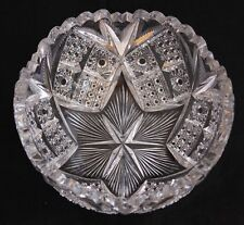 MAGNIFICENT ANTIQUE AMERICAN BRILLIANT CUT GLASS CRYSTAL ABP LIBBEY signed BOWL