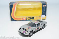 CORGI TOYS 319 LAMBORGHINI P400 GT MIURA RALLY METALLIC GREY EXCELLENT BOXED