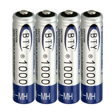 4pcs BTY Ni-MH AAA 1000mAh 1.2V Rechargeable Battery