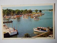 Yacht Basins Oulton Broad Suffolk Old Postcard