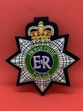 More details for merseyside police embroidered blazer badge bullion and worse blazer badge