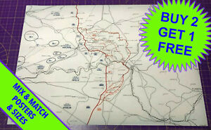 WW1 Trench Map • Battle of The Somme 1915-1916 • Western Front • A5 - A2 SIZE