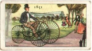 1851 Sawyer's Velocipede 4 Wheeled Quadricycle  England Vintage Trade Ad Card