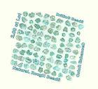 2.00 Cts Lot Natural Loose Diamond Rough Drilling Bedas Shape Blue Color L12