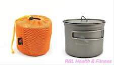 "TOAKS Titanium 900ml D115 Pot POT-900-D115 - 4-1/2"" (115mm) Diameter Camping Pot"