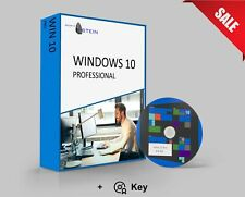 Windows 10 Pro Aktivierungspaket 64-bit   Software DVD + Original Produkt-Key