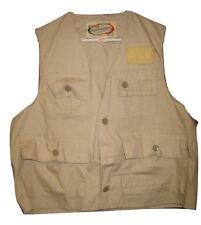 Vtg World Famous SANFORIZED Fishing Vest Mens JCPenney NEW Deadstock Beige L