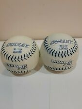 2 Nos Dudley C-Plex Cor .50 Usssa Leather Softball