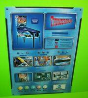 Thunderbirds Pinball Machine FLYER Artwork Sheet Original Homepin Australia