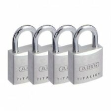 Padlocks Keyed Alike x 4 -ABUS 20mm Padlock.-Free Postage-64TI20QUADSC