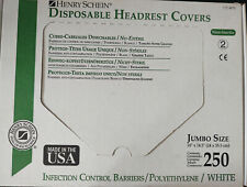 Henry Schein Disposable Headrest Covers Jumbo Size Qty250 10x145 112 4874 Usa