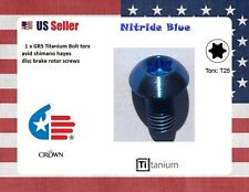 1 Blue Crown Ti titanium Bolt metric M5 x 10mm T25 torx nitride blue