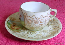 AK Limoges Bone China (Man & Woman) DEMITASSE CUP & SAUCER SET Exc