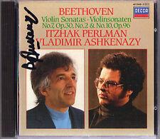 Vladimir ASHKENAZY signée Beethoven Violin Sonata No. 7 & 10 Itzhak Perlman CD