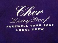 MEN'S VINTAGE CHER LOCAL CREW T SHIRT XL 2002 LIVING PROOF FAREWELL TOUR