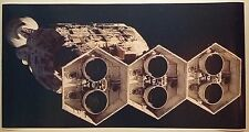 """2001 Space Odyssey GIANT WIDE 24"""" x 46"""" HAL DISCOVERY ONE Spaceship Kubrick"""