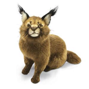 HANSA CARACAL CAT SITTING REALISTIC STUFFED ANIMAL PLUSH TOY 28cm H **NEW**