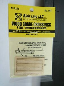Blair Line N Scale Wood Grade Crossing 2 Lane #065  Bob The Train Guy