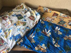 Twin XL Duvet Dean Miller Set Hawaii 2 Shams Aloha Surf Bedding Cotton Hula Girl