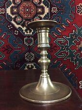 Brass Candlestick; Rare; 17th Century; Dutch or Spanish 1650-1690