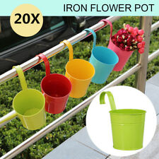 20pcs Metal Iron Flower Pots Balcony Hanging Plant Planter Garden Home Decor