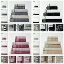 100% EGYPTIAN COTTON EMBROIDERY DALBY HAND BATH TOWEL SET SHEETS ABSORBENT 550