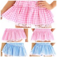 Womens Sexy A-line Tennis Plaid Pleated Mini Skirt Mens Lace Skater Skirt Shorts