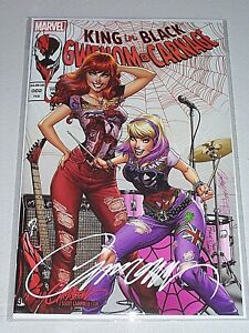 """King In Black: Gwenom vs. Carnage #2! (2021) """"B"""" Variant! Signed-Campbell! NM!"""