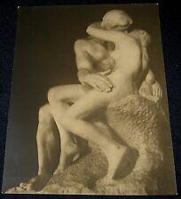 "Antique Albert Rudomine Paris Photographer B&W Rodin Sculpture Print 7"" x 9 3/8"""