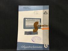 altes Prospekt-Blatt Wiegandt Waren-Automaten Berlin Neukölln – Standard 12 E